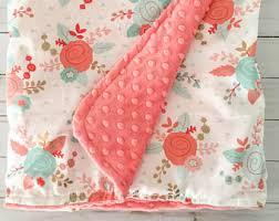 u0027s baby blanket shabby chic baby blanket floral