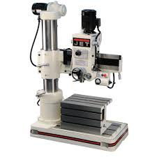 Woodworking Bench Top Drill Press Reviews by 320033 Jet J 720r 3 U0027 Arm Radial Drill Press 230 460v