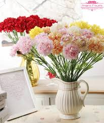 2017 50cm carntion silk decorative artificial flower for mother u0027s