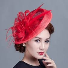 fascinators for hair large ivory feather sinamay hats women hair accessories