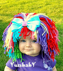 Raggedy Ann Halloween Costume Baby Clown Costume Baby Hat Baby Clown Wig Pageant Clothes