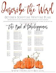 inscribe the word october scripture writing plan