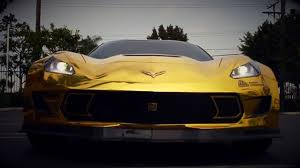 corvette stingray gold gold chrome wrapped corvette is as flashy as they come u2013 video