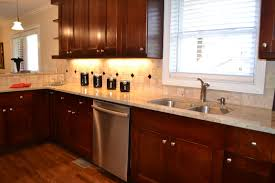 Dark Oak Kitchen Cabinets White Kitchen Cabinets And Dark Wood Floors The Top Home Design