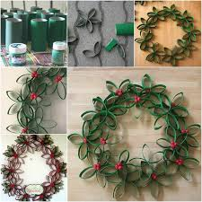 Beautiful Decorated Christmas Wreaths by Creative Ideas Diy Beautiful Paper Roll Christmas Wreath