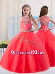 coral quince dress beautiful gowns scoop tulle coral mini quinceanera dress