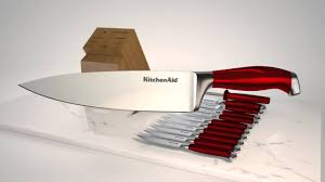 Cutlery Kitchen Knives Kitchenaid Professional 14pc Candy Apple Red Cutlery Set Youtube