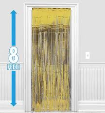 Gold Foil Curtain by Amscan Dazzling Foil Metallic Curtain Gold 8 Ft X 3 Ft From