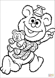 baby fozzie coloring page free printable coloring pages