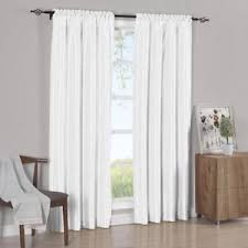White Faux Silk Curtains Simple Soho Faux Silk Curtain Panels Pair Set Of 2 Ebay