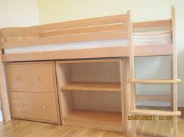 aspace solid beech mid sleeper raised bed with matching units in