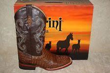 ferrini s boots size 11 nocona boots mens caiman b toe boot chocolate 11 d us ebay