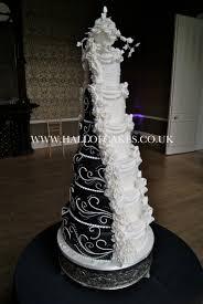 black and white wedding cakes amazing black and white split half and half wedding cake