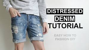 how to diy distressed denim shorts easy tutorial youtube