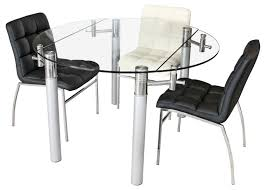 Glass Dining Table 4 Chairs Chair Extending Round Glass Dining Table Tables Sets Small Oak And