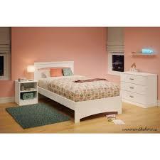 Bed Frame Set South Shore Libra White Bed Frame 3860189 The Home Depot