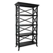 wood metal bookcases white u0026 black bookcases bed bath u0026 beyond
