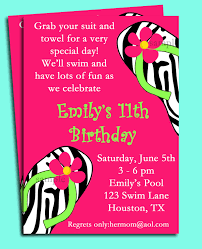 Invitation Card For Pool Party Pool Party Invitation Spa Party Invitation Swim Party