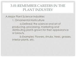 the plant industry part remember careers in the plant industry a