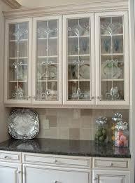 Kitchen  Clear Glass  Kitchen Cabinet Door Decor With White - Cream kitchen cabinet doors