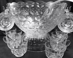 Pedestal Punch Bowl Vintage Crystal Swan Bowl Made By J G Durand Arques