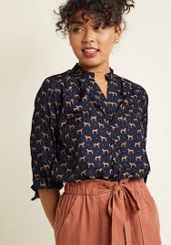 elephant blouse safari as i can see top in elephant modcloth