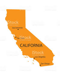 Map Of Calif Orange Map Of California With Indication Of The Biggest Cities