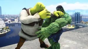 hulk shrek epic battle