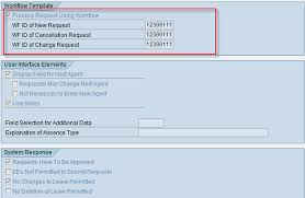 standard u201cworkflow id u201ctemplate for leave request in ess