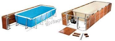 rivestimento in legno per piscine fuori terra piscine fuori terra solarium technypools