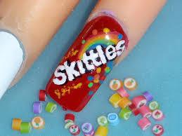 sweets skittles taste the rainbow nail art design youtube