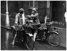 23rd september 1925 the debenham sisters on their bsa motorcycles