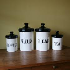 Kitchen Canisters Ceramic 20 Black Kitchen Canister Fifth Avenue Crystal White