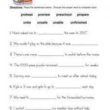 prefixes worksheet 1