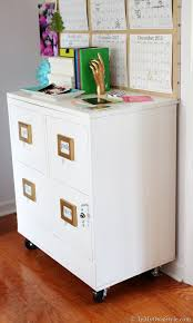 File Cabinets On Wheels File Cabinet Makeover In My Own Style