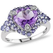 kay jewelers engagement rings for women 3 carat t g w amethyst tanzanite and diamond accent 10kt white
