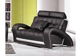 canapé cuir noir 3 places deco in canape cuir noir 2 places verdi can verdi 2p pu noir
