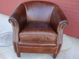 Leather Club Chair Vintage Cigar Brown Top Grain Leather Club Pub Chair Pub Chairs