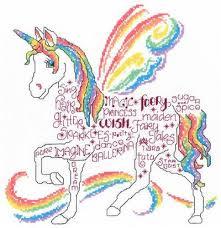 imaginating rainbow unicorn