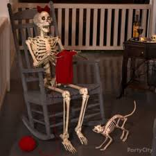 Halloween Skeleton Halloween Skeleton And Bike Idea Haunted House Entrance Ideas
