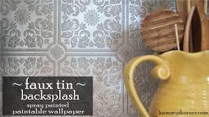 kammy u0027s korner kitchen makeover part ii the faux tin backsplash