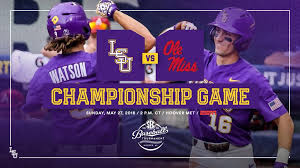 maaf siege lsu baseball on it s chionship sunday lsu will go for