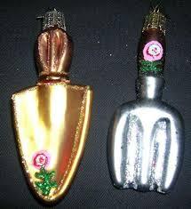 garden tool ornament set of 2 ornaments