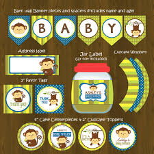 baby shower favors for a boy monkey baby shower diy