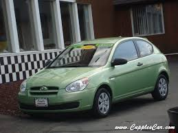 hyundai accent green 2008 hyundai accent gs lime green automatic for sale in laconia