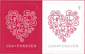 Stamp On Right Or Left Amazon Com Usps Forever Hearts Forever Stamps Sheet Of 20