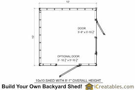 Storage Building Floor Plans 10x10 Short Shed Plans Under 8 Foot Shed