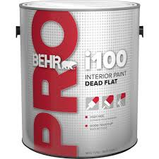 behr pro 1 gal i100 white flat interior paint pr11001 the home