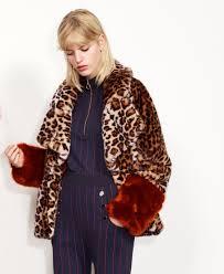 baum und pferdgarten baum und pferdgarten faux fur leopard jacket studio b fashion