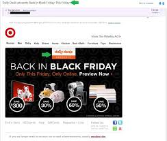 target black friday daily deals top tips for cross promoting a new email newsletter or brand